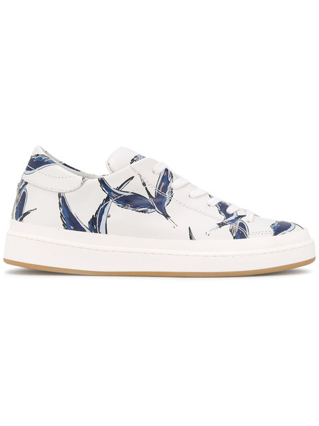 Philippe Model birds women sneakers leather white cotton shoes