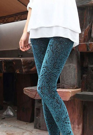 [grzxy6600284]Gorgeous Folk Style Floral Crochet Leggings on Luulla
