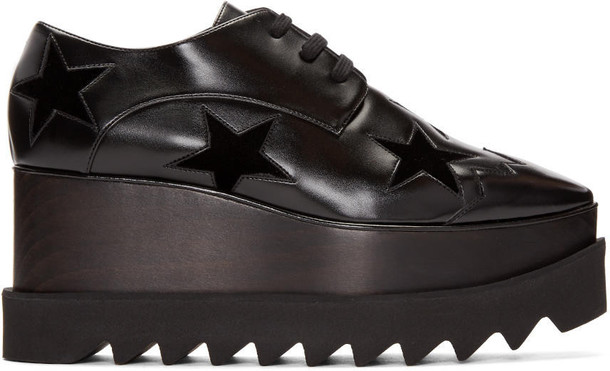 Stella Mccartney Black Star Platform Elyse Derbys