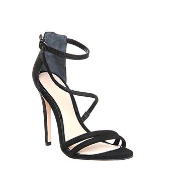 Office sophia strappy sandal black leather