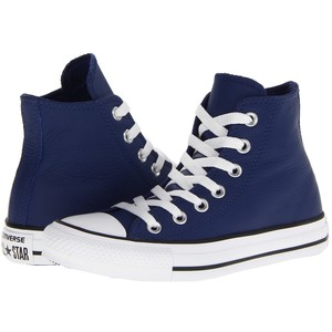Converse Chuck Taylor All Star Low Top Leather Trainers, White - Polyvore