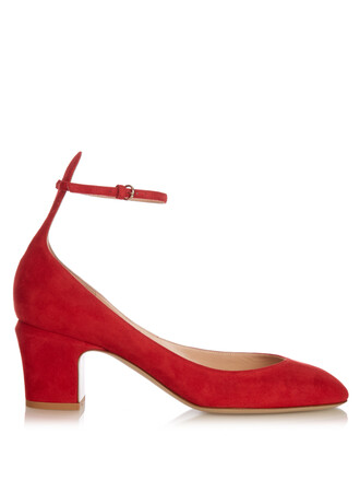 suede pumps pumps suede red shoes