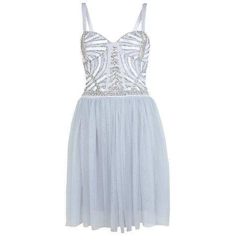 Buy Miss Selfridge Embellished Body Tutu Dress, Grey online at John Lewis