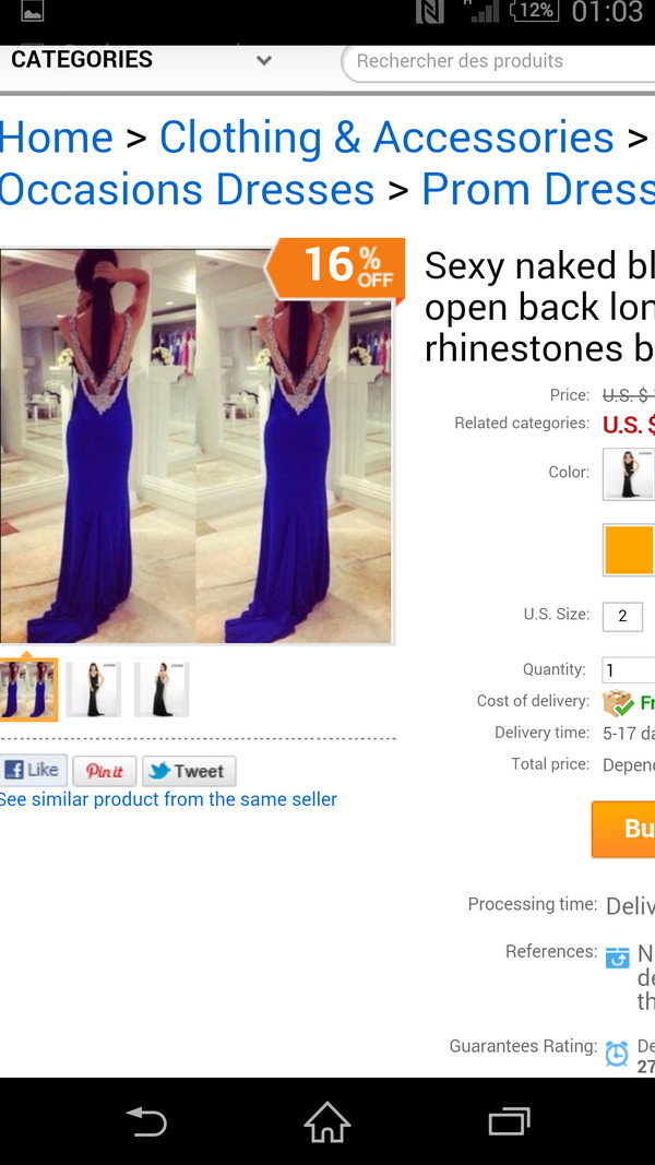 dress prom prom dress open back blue black pretty debs full length amazing diamonds sequins beaded jewels