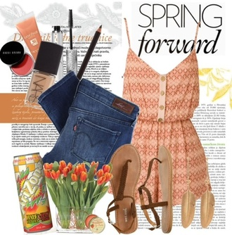 orange blouse shirt jeans sandals spring spring outfits