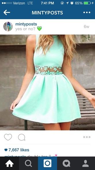 dress mint dress lace dress