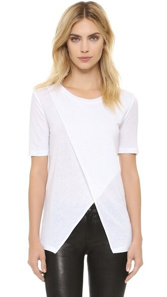 asymmetrical soft white top
