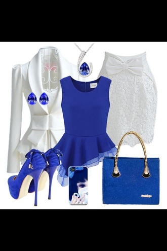 bag love it blue flawless badass sweet girly nice royal blue
