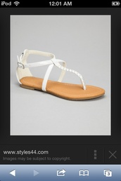 shoes,white braided sandals
