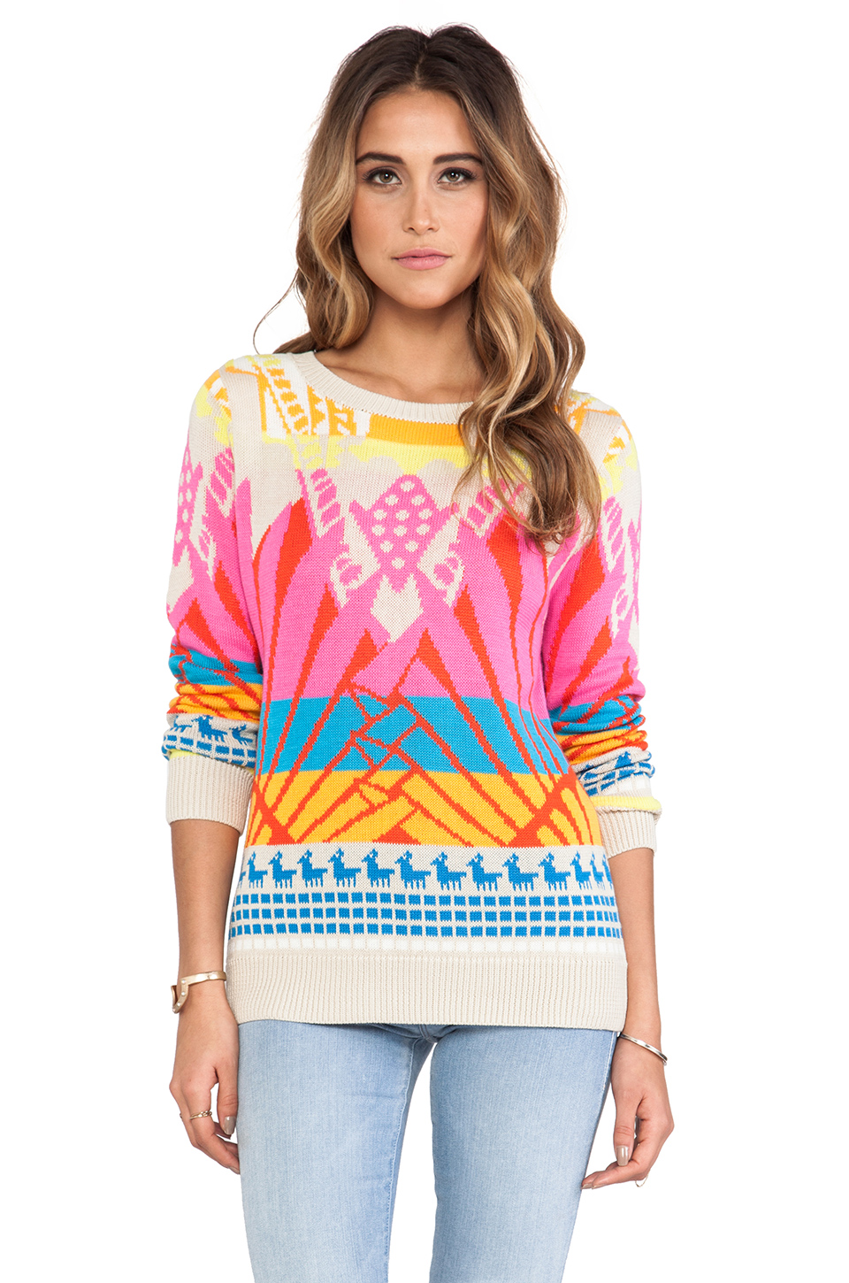 Mara Hoffman Pullover Sweater in Sunrise | REVOLVE