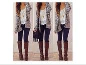 boots,cardigan,shoes,grey cardigan
