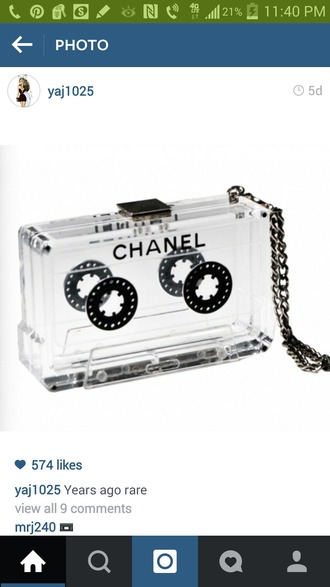 bag clear bag cassette chanel bag