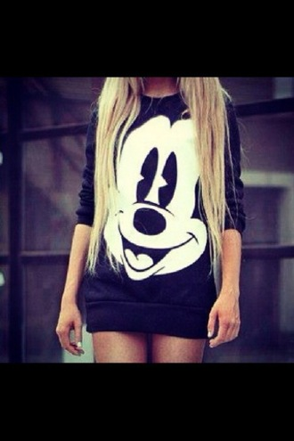 dress little black dress mickey mouse