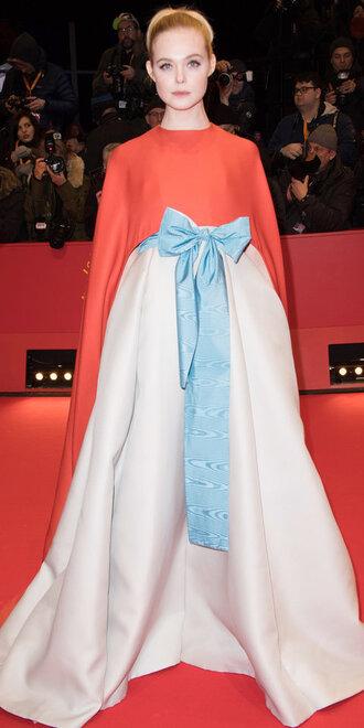 dress gown red carpet dress elle fanning