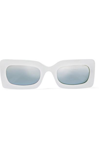 Le Specs - Damn! Square-frame Acetate Sunglasses - White
