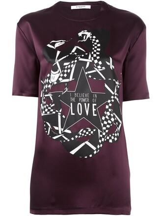 t-shirt shirt snake print satin snake print red top