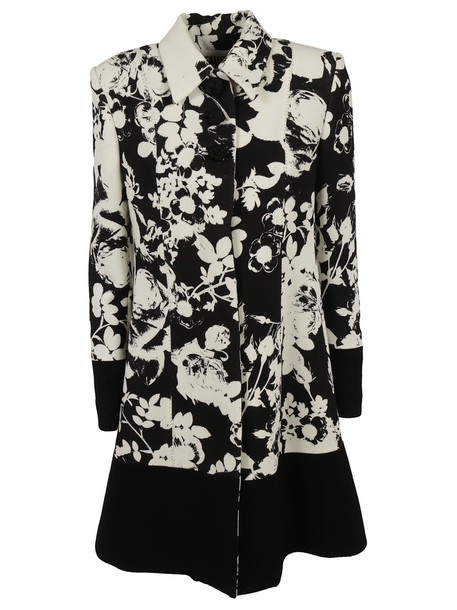 FAUSTO PUGLISI coat embroidered floral white
