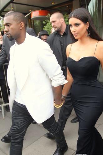 dress black black dress kim kardashian kanye west