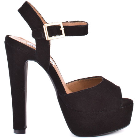 Steve Madden's Black Dynemite - Black Suede for $109.99 direct from heels.com