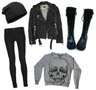 shoes black punk rock