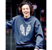 sweater,harry styles sweater,harry styles,angels wings,angel wings,blue sweater,mens sweater,calvin klein