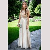 dress,long prom dress,2017 champange prom dress,long cheap prom dresses