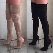 shoes,thigh high boots,heels,knee,high,boots