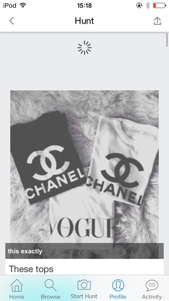 shirt chanel t-shirt white t-shirt black t-shirt