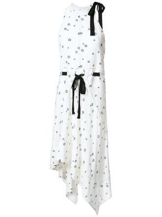 dress women white silk