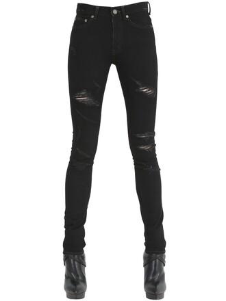 jeans denim cotton black