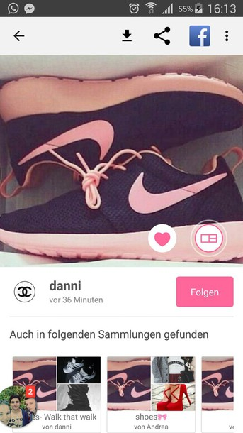 shoes nike roshe run black weheartit nike shoes rose