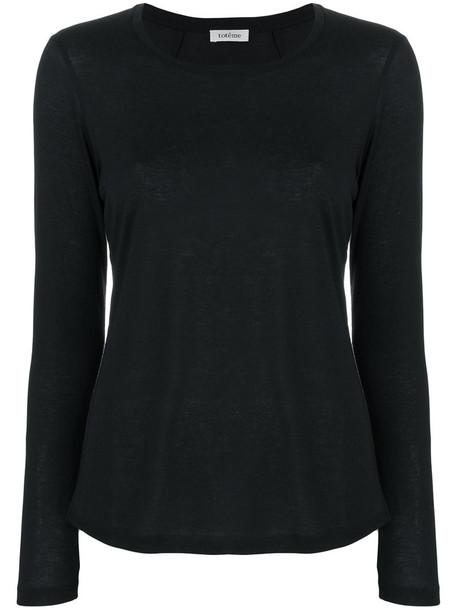 Totême t-shirt shirt t-shirt long women black top