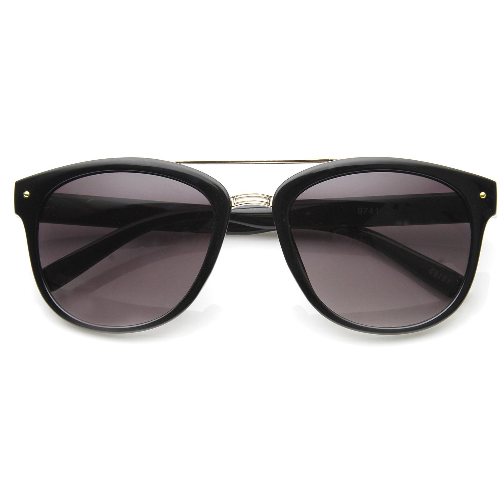 Dapper GQ Mens Crossbar Square Aviator Fashion Sunglasses 8962