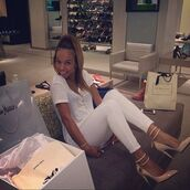 shoes,classy,heels,all white everything,karrueche,jewels