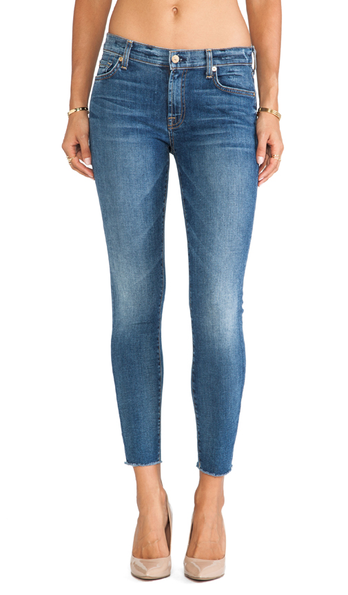 7 for all mankind ankle skinny with raw hem in destroyed rue de lille 2 from revolveclothing.com