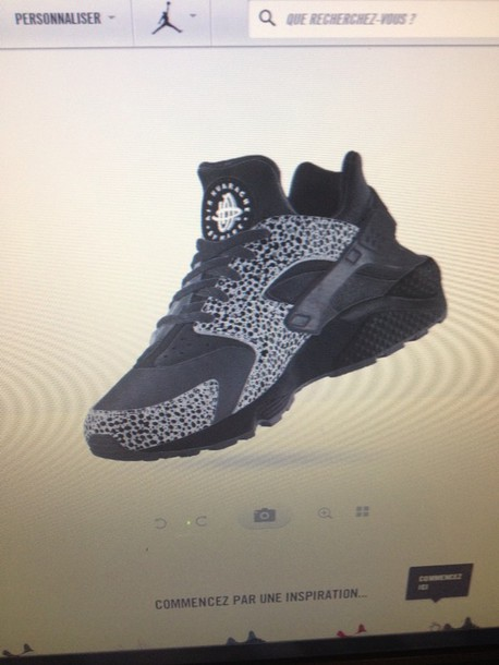 shoes black huarache nike