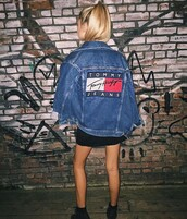 jacket,tommy hilfiger,denim,denim jacket,tumblr,clothes