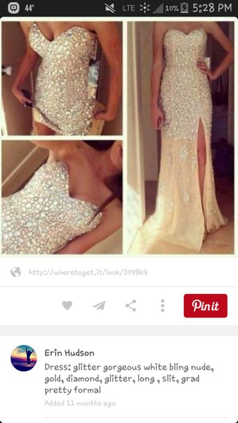dress long glitter prom dress