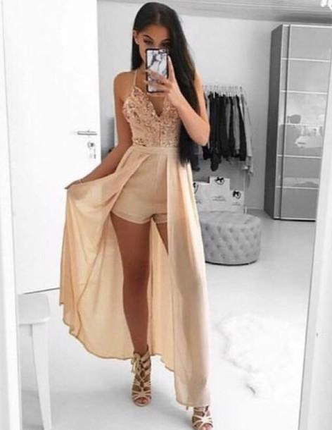 dress romper nude dress lace dress