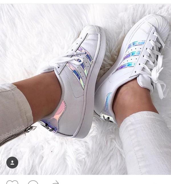adidas superstar jw white silver
