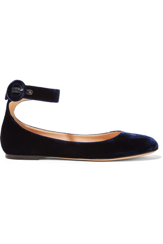 ballet flats ballet flats velvet navy shoes