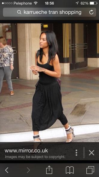 dress karrueche jumpsuit black dress black heels