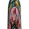 Counting 6-print pleated silk skirt