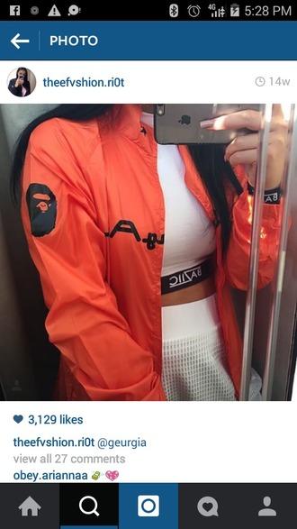jacket orange writing black