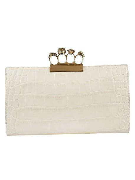 Alexander Mcqueen clutch knuckle clutch white bag