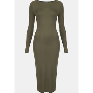 Topshop Body-Con Midi Dress|Roundneck Dress|Roundneck Dress | Sleeveless Dress - Turn Rage Dress