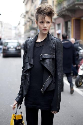 leather jacket black freja beha jacket