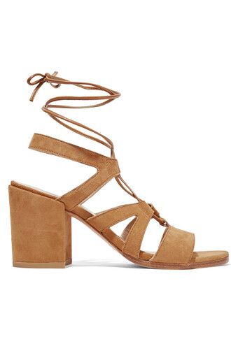 sandals suede camel neutral shoes