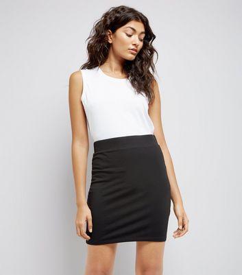 e4fbf05d324e9 Black Cotton Mix Mini Tube Skirt | New Look