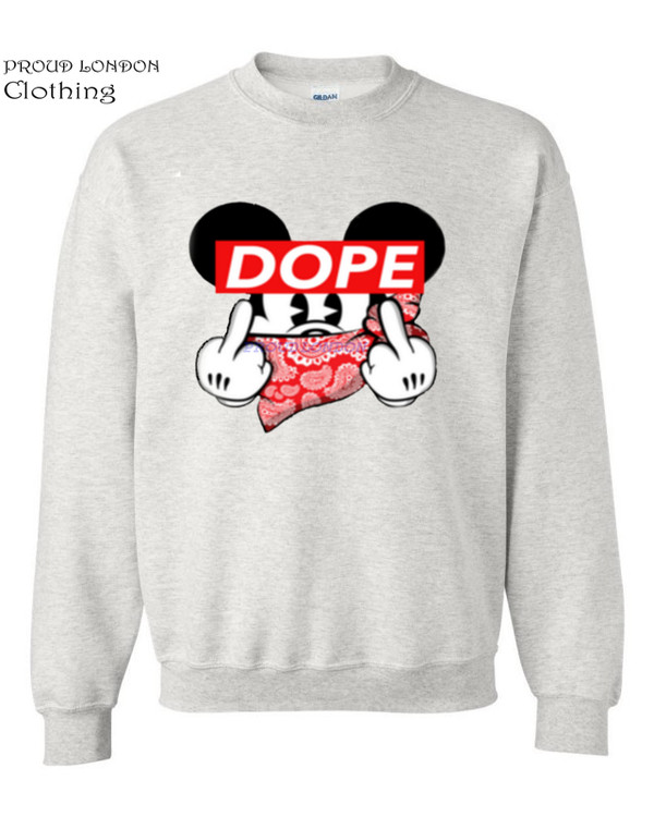 Mickey Dope Finger Mouse Sweater Trill Odd Dis Obey Future Sweatshirt Hands Swag